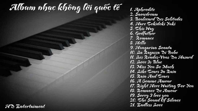 Nhạc Không Lời Piano Sâu lắng và cảm xúc [Best of Piano] (nhiều videos)